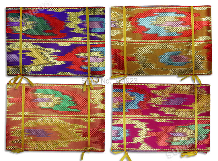 Sent by DHL army green gold Multicolored African Aso Oke headtie gele Scarf wrapper purple blue fushia peach 2 pieces per Lot(China (Mainland))