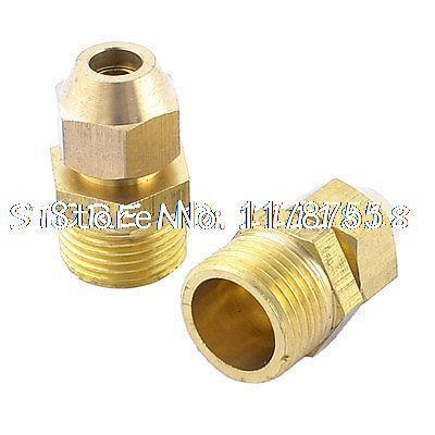 """2pcs 6mm 15/64"""" Pipe Brass Pneumatic Fittings Quick Coupler Connector(China (Mainland))"""