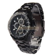 BETR Fashion Men Water Proof Watch Black Steel Band Quartz Analog Black Dial