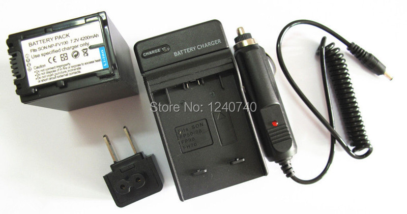 Battery + Charger for Sony DCR-PJ6, HDR-PJ10, HDR-PJ30V, HDR-PJ50V, HDR-PJ200, HDR-PJ220,HDR-PJ230,HDR-PJ260V Handycam Camcorder(China (Mainland))