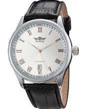 2015 hombres de moda de relojes, ganador casual marca tema vacío relojes mecánicos. correa de cuero reloj deportivo relogio masculino