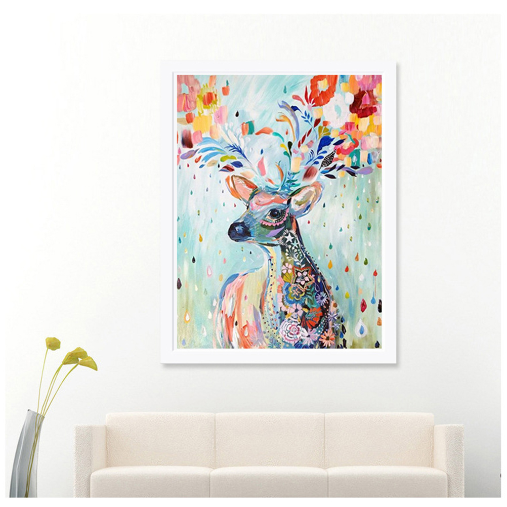 12*14 Inch Handmade DIY Diamond Painting Embroidery Cross Stitch Kits Crystal Painting Room Home Decoration Colour Deer Pattern(China (Mainland))