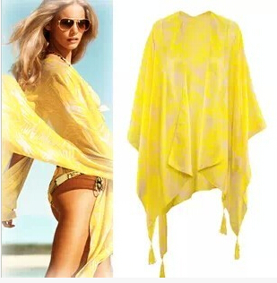 CH93 brilliant yellow leaves Pashmina Scarves ocean scarf wholesale free shipping(China (Mainland))