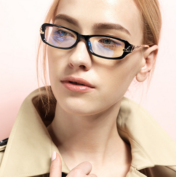 New European And American Retro Glasses Frame Leopard Head Metal Plain Mirror Eyeglasses Frame for Women(China (Mainland))
