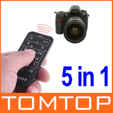 5 in 1 Universal Camera Wireless Remote Control For Canon / Sony / Olympus / Nikon / Pentax , Free / Drop Shipping Wholesale(China (Mainland))