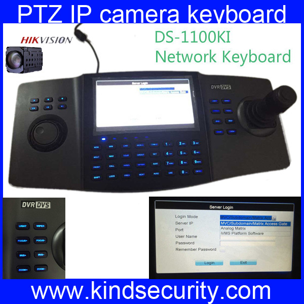 DS-1100KI Hikvision LCD panel Network Keyboard for PTZ Speed dome camera, video decoder & DVR control(China (Mainland))