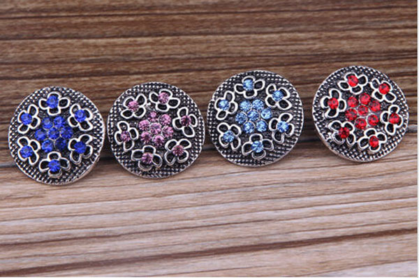 product 50pcs Flower Clasps snap buttons for snaps jewelry fit ginger snaps bracelets from www partnerbeads