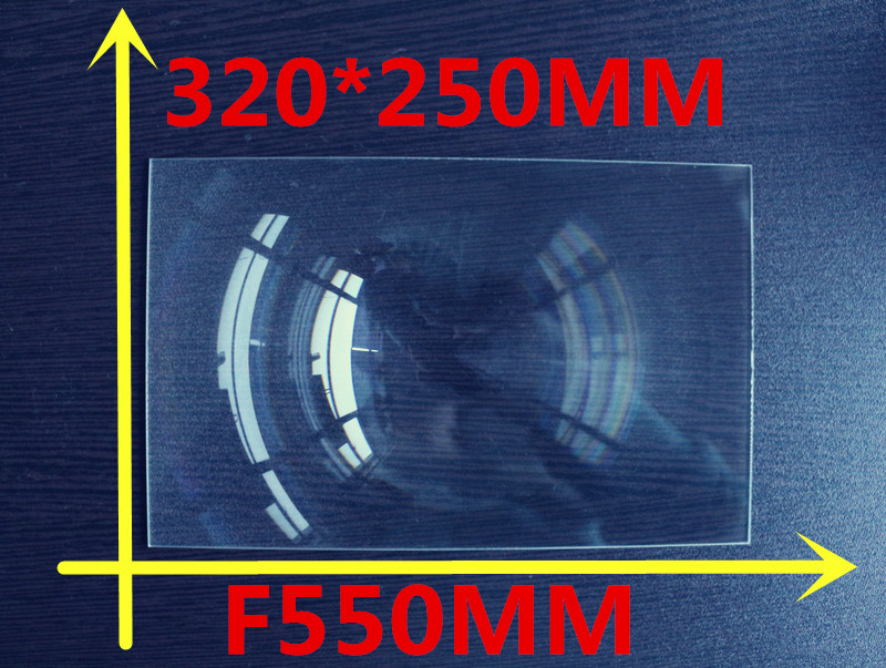1pcs/lot big size 320*250MM Rectangle DIY projector Fresnel Lens Focal length 550 mm High concentrated lens free shipping