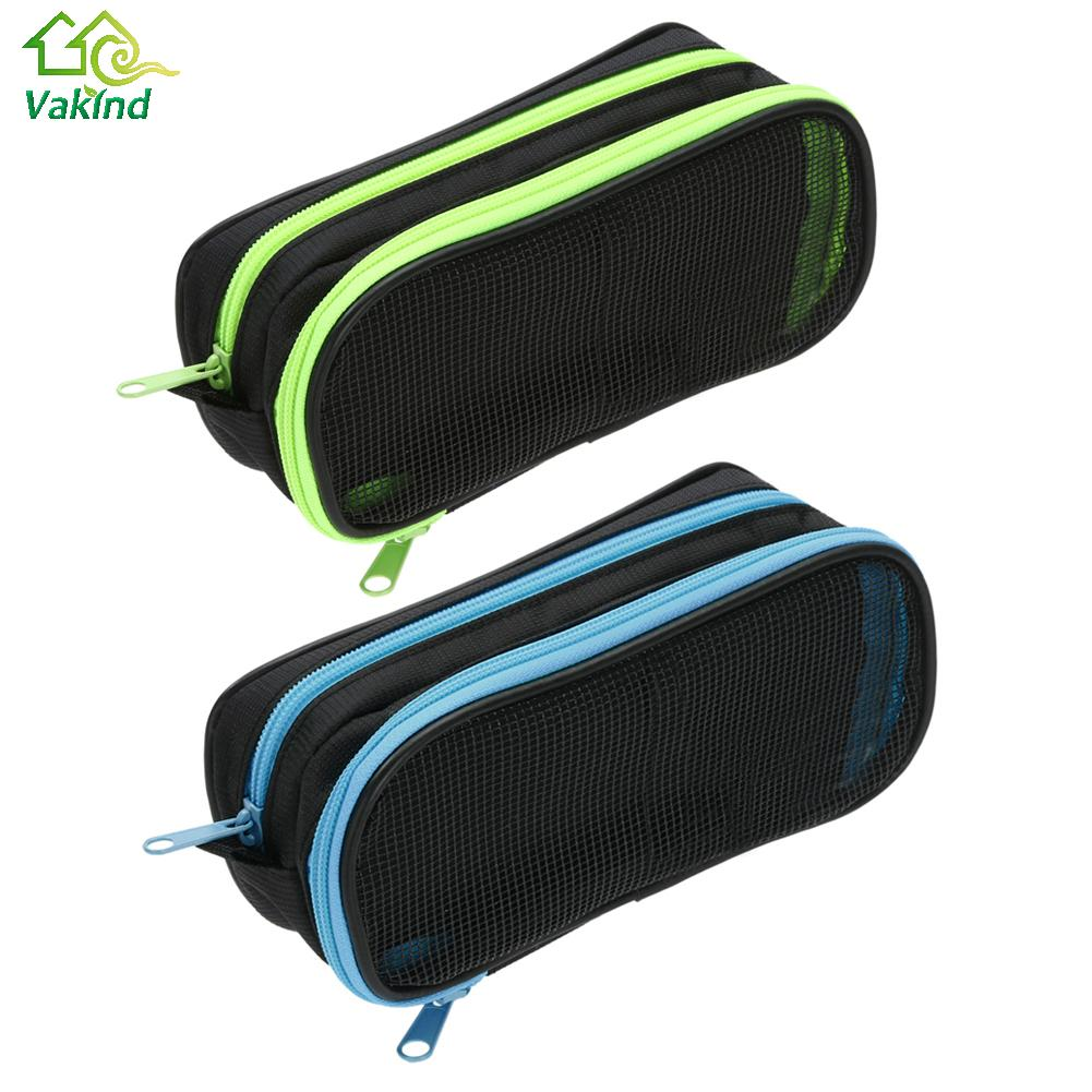 School bag box type - Hot Korea Larger Capacity Multifunctional Canvas Pencil Cases Double Zipper Pen Bags Box For Boys Girls