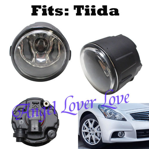 Fog Lights Lamps w/ H11 Halogen Bulbs For Nissan Infiniti qashqai (Fits: Tiida)One Pair Replacement Parts(China (Mainland))
