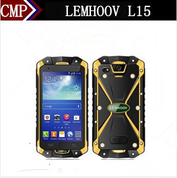 "Original Lemhoov L15 IP68 Rugged Waterproof Mobile Phone Quad Core Android 4.4 4.5"" IPS 960X540 1GB RAM 4GB ROM 8.0MP NFC PTT(China (Mainland))"