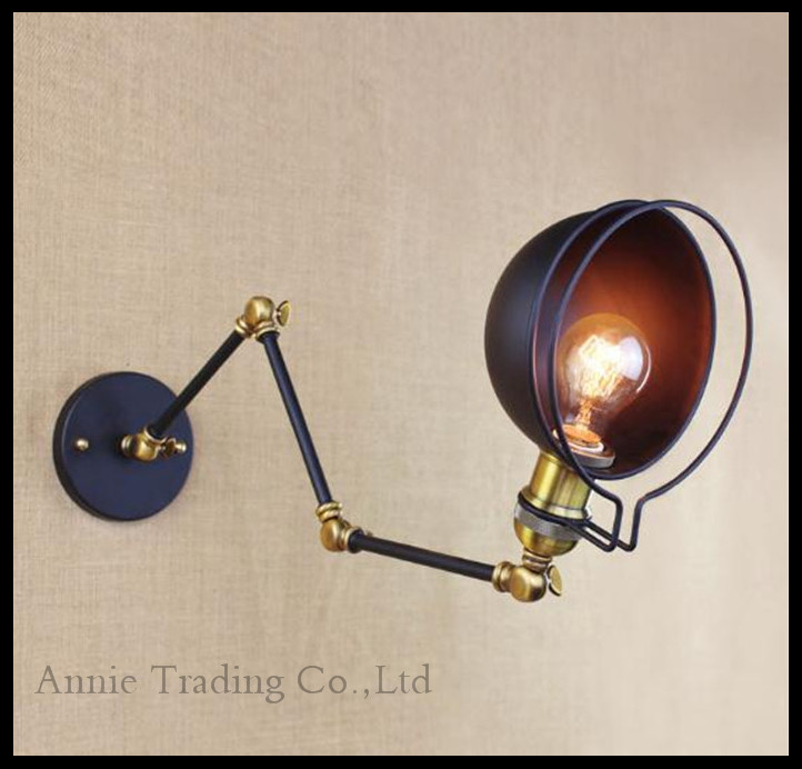 American Vintage Wall Lamps Art Decoration Black Sconce Arandela Lamparas Pared lights applique murale espelho de parede lampe(China (Mainland))