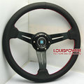 Free shipping hot 2014 new car modification leather steering wheel ND 14 inch frame bent Racing