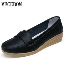 Buy 2017 Shoes Woman Genuine Leather Women Shoes Flats 3 Colors Buckle Loafers Slip Women's Flat Shoes Moccasins Plus Size 8803W for $14.26 in AliExpress store