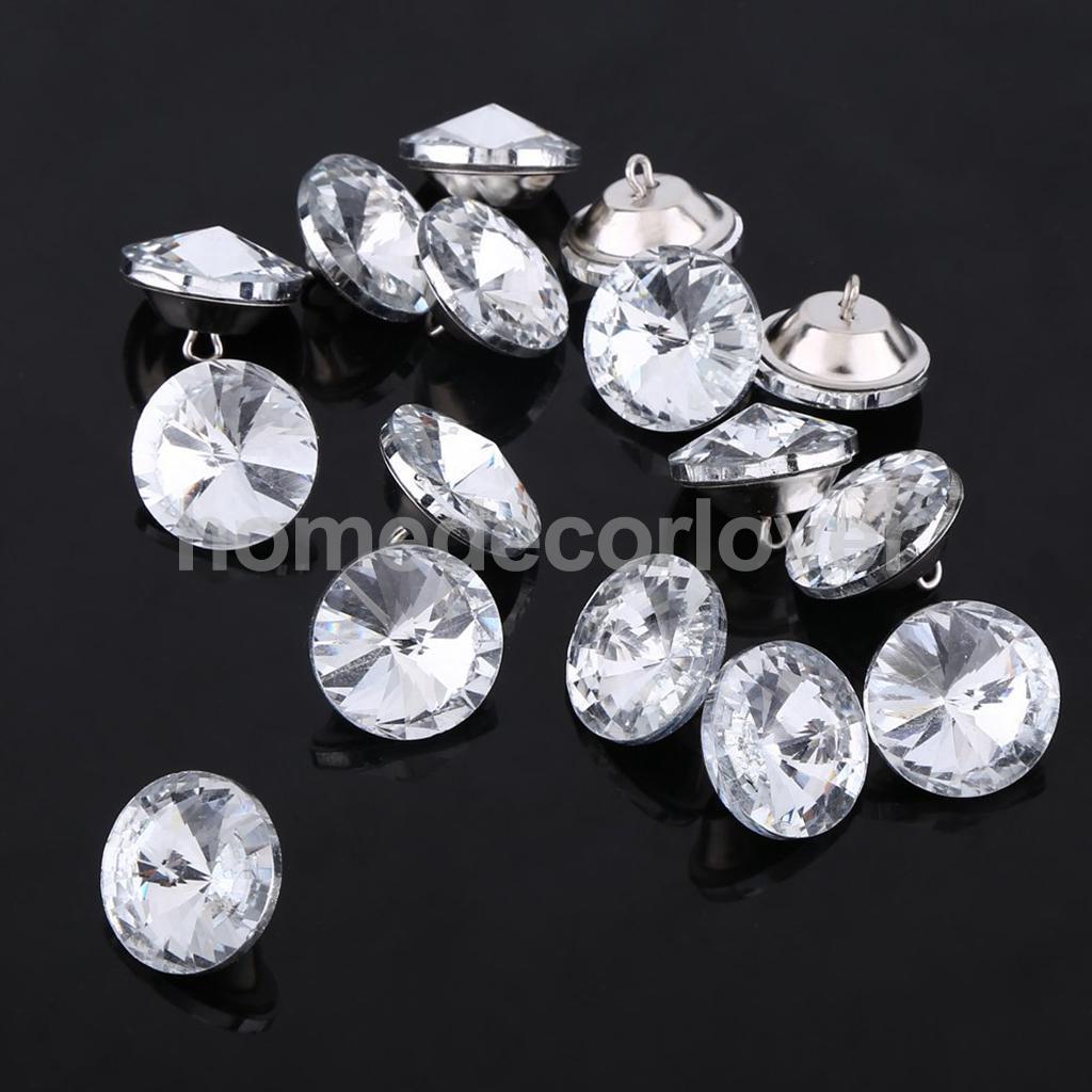 10x Adornos Diamante Cristal Corona accesorios de bricolaje 23x23mm