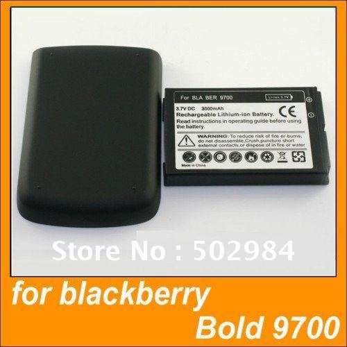 FACTORY 50pcs EXTENDED BATTERY Cover for BlackBerry Bold 9700 3000mAh mix charger tpu case android mobile phone FREESHIPPING(China (Mainland))