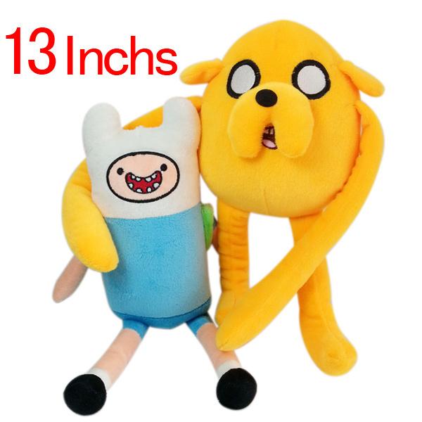 Cartoon Adventure Time Plush dolls Finn Jake toy 13 inch soft Figure Stuffed animals Movie Toys grinning plush - Bechan Toy store
