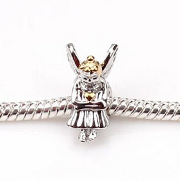5PC 2015 New Silver Gold Girls European Beads Fashion Charm Bead Fit Bracelet - Helmet & Jewelry Accessories store