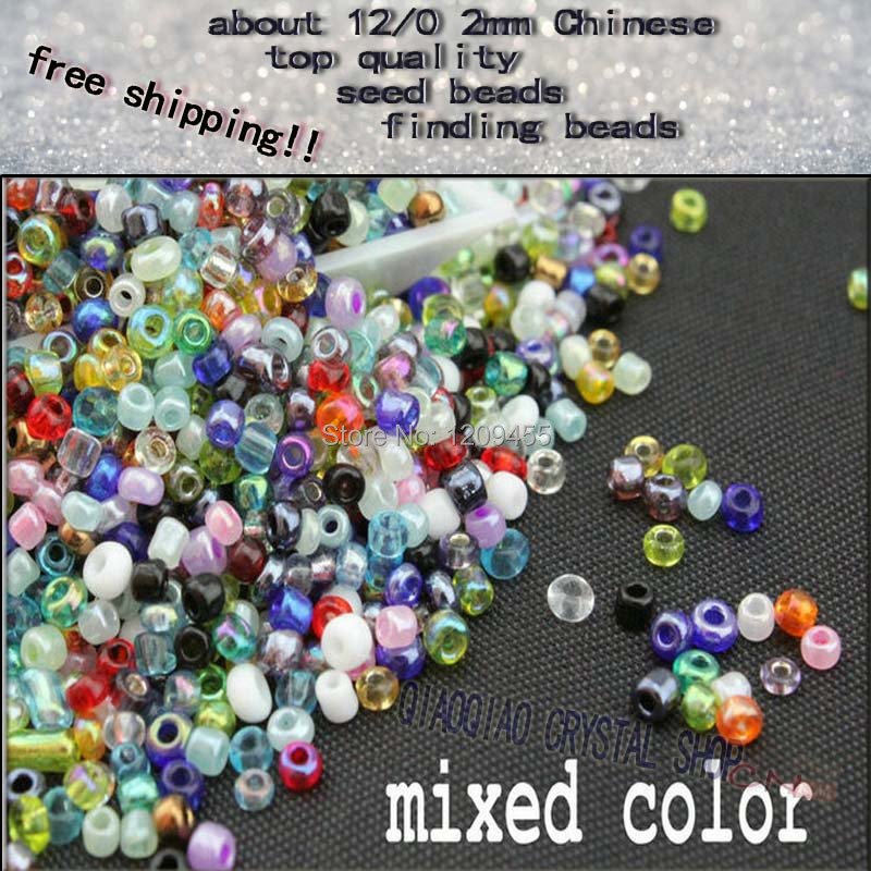 full quantity 1800pieces-2000pieces/pack Jewelry Making DIY 2mm Glass Spacer Beads diy tiny beading crystal glass seed beads(China (Mainland))