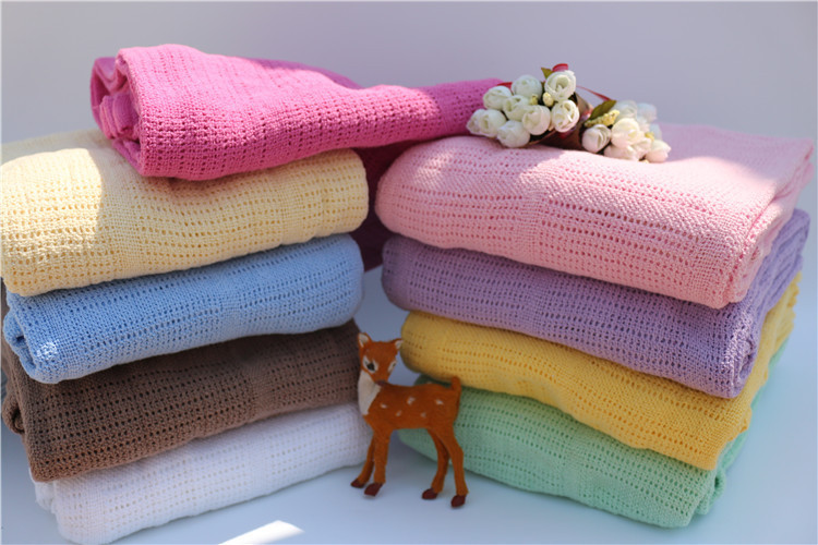 150x200cm 100% Cotton Knitted Blanket Brand Soft Sofa Blankets Summer Air Conditioning Quilt Twisted Sleeping Throw Blanket Sale(China (Mainland))