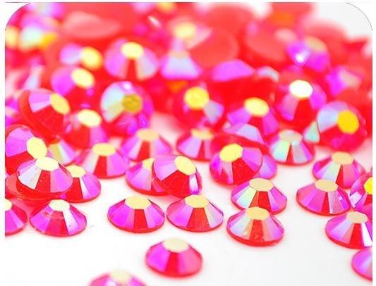 Free Shipping DIY Crystal fashion Hot Fix Resin diamond 3mm Rhinestone red AB