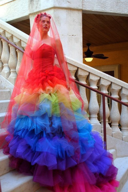 Popular Rainbow Wedding Dresses-Buy Cheap Rainbow Wedding ...