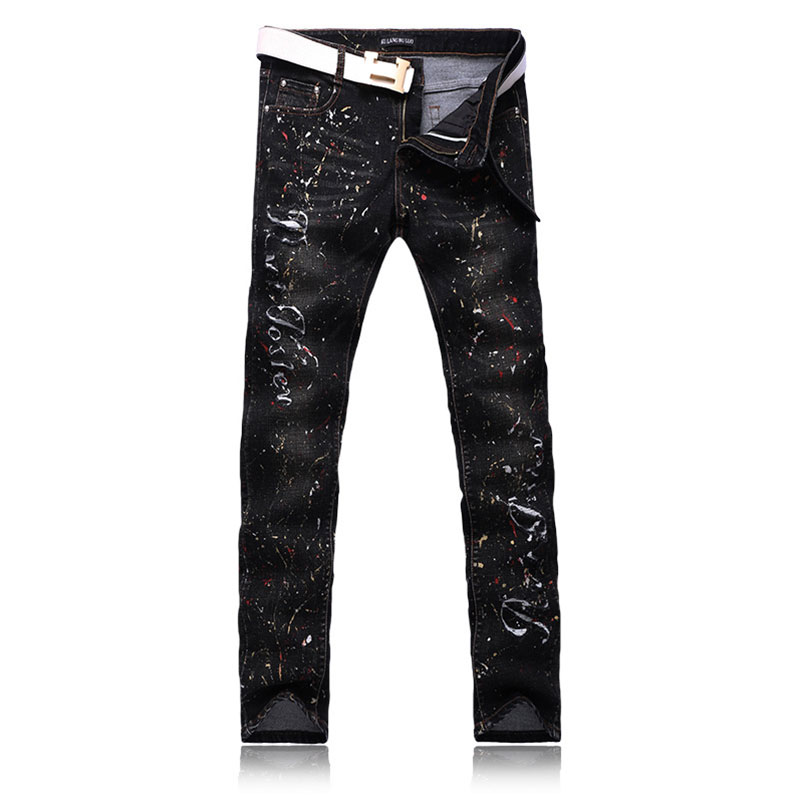 Aliexpress.com : Buy Cool Men's Personality Designer Black Jeans ...