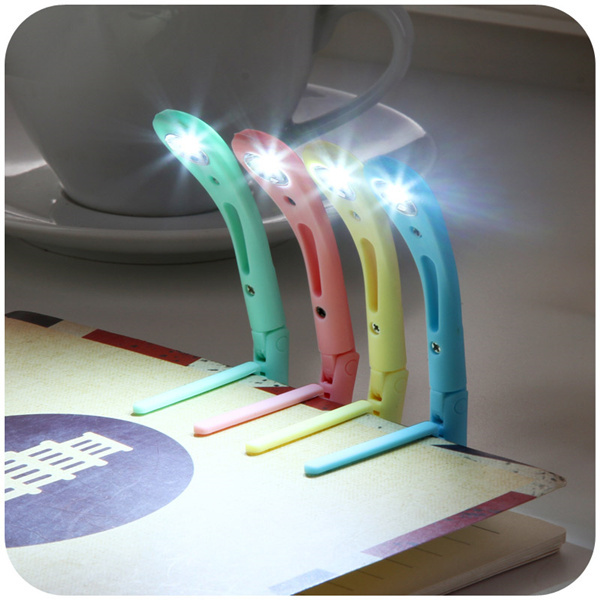 5pcs portable LED night light energy-saving book light with clip Folder of lights LED reading lamp(China (Mainland))