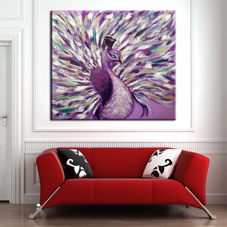 New Modern Abstract Wall Art Peacock Oil Painting On Canvas Beautiful Animal Peacock Paintings On Canvas Home Decor Pictures(China (Mainland))