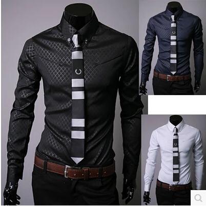 все цены на Мужская повседневная рубашка Lii Siaze m/5xl 2015 Slim Fit онлайн