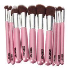 10Pcs Professional Makeup Brushes Sets Soft Hair Makeup Foundation Powder Brush Cosmetics Beauty Tools Free Shipping