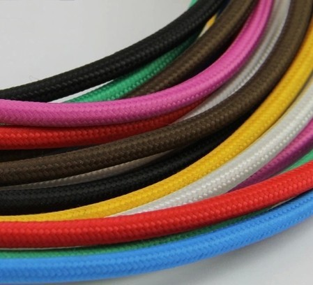 5m/lot 2x0.75 Color Twisted Wire Twisted Cable Retro Braided Electrical Wire Fabric Wire DIY pendant lamp wire vintage lamp cord(China (Mainland))
