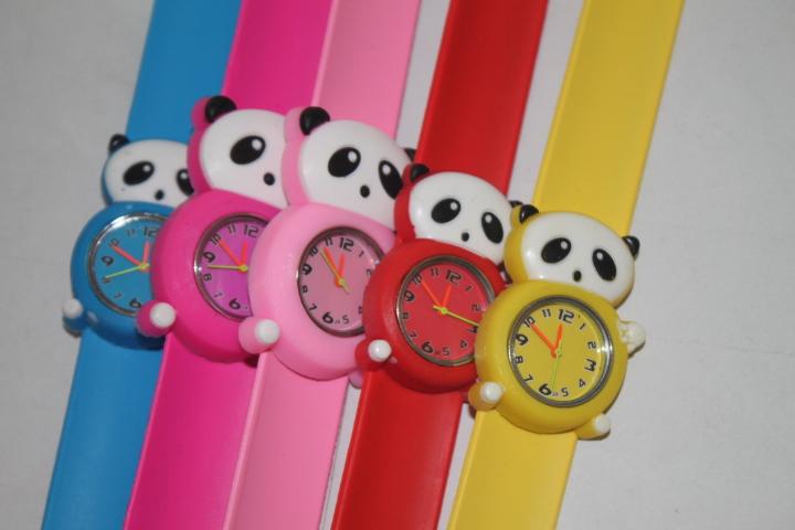 Free &amp; drop shipping 10PCS/lot mixed wholesale new hot sales girls boys kids cartoon The panda clap silicone sports quartz watch<br><br>Aliexpress