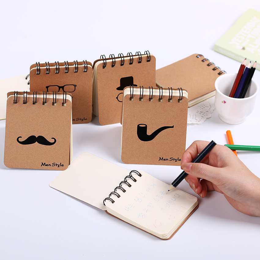 1 pcs Cute Notebook Moustache Coil Notepad Plan Diary Day Planner Journal Record Stationery Office School Supplies(China (Mainland))