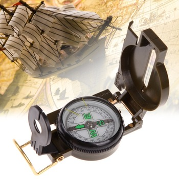 Portable Army Green Folding Lens Compass American Military Fashion Multifunction Compass Boat Compass Dashboard Dash Mount