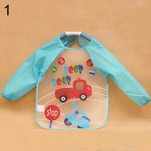 Bluelans Cute Baby Boy Girl Toddler Children Waterproof Long Sleeve Bib Art Apron Smock<br><br>Aliexpress