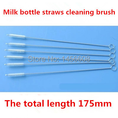 stainless steel wire cleaning brush straws milk bottle cleaning brush 300pcs/lot Free shipping(China (Mainland))