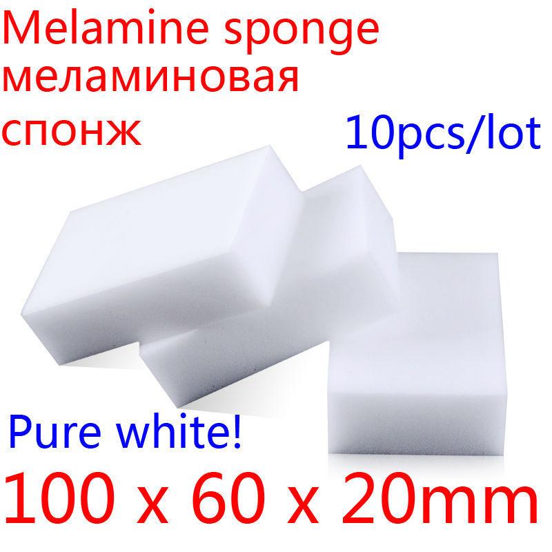 Melamine Sponge Magic Sponge Eraser Melamine Cleaner Eco-Friendly White Kitchen Magic Eraser 2015 New 10pcs/lot 100*60*20mm(China (Mainland))