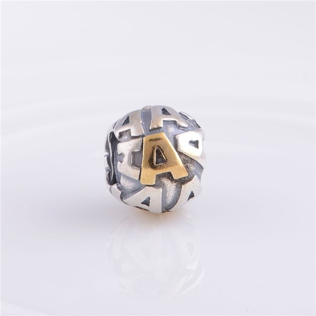 925-Sterling-Silver алфавит надписи A бусины подвески-талисманы Fit европейский марка браслеты браслеты своими руками Memnon ювелирные изделия LE03-A