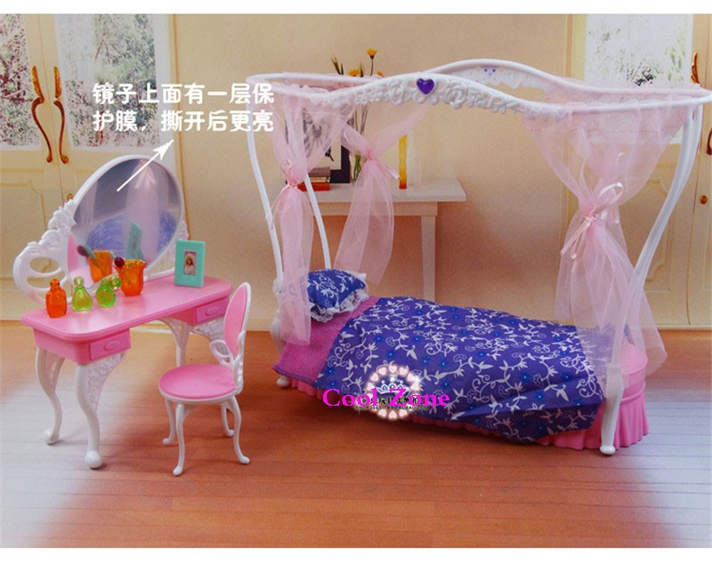 Miniature Furnishings Rose Palace Candy Dream Mattress Room for Barbie Doll Home Toys for Woman Free Transport