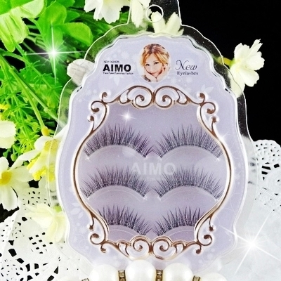 new package 3 Pairs 100% real siberian mink false eyelash individual 3D strip mink lashes thick fake eyelashes free shipping(China (Mainland))