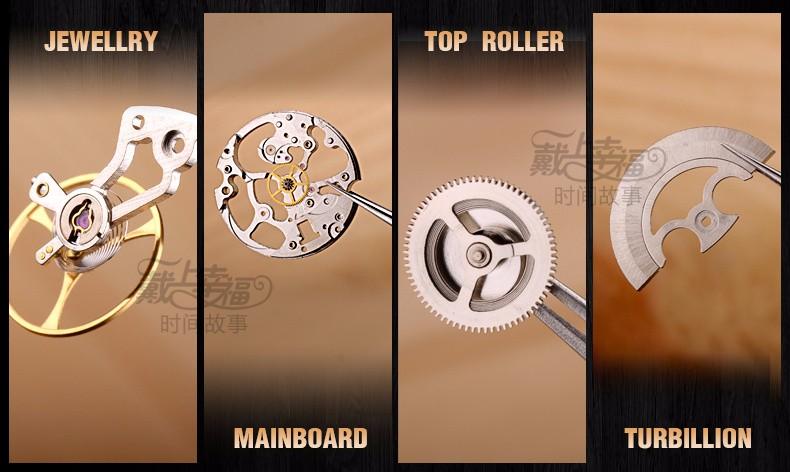 Марка Классическая Мода Бизнес Случайный Часы Мужчины Автоматические Часы Маховик Выдалбливают Часы С Бриллиантами Водонепроницаемый Наручные Часы Relogio