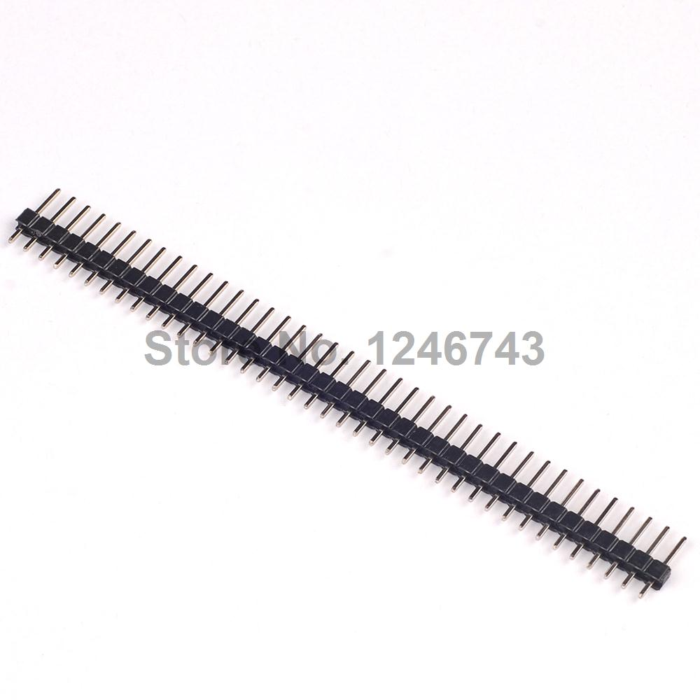 10PCS 1×40 Pin 2.54 Round Female Pin Header Connector Free Shipping