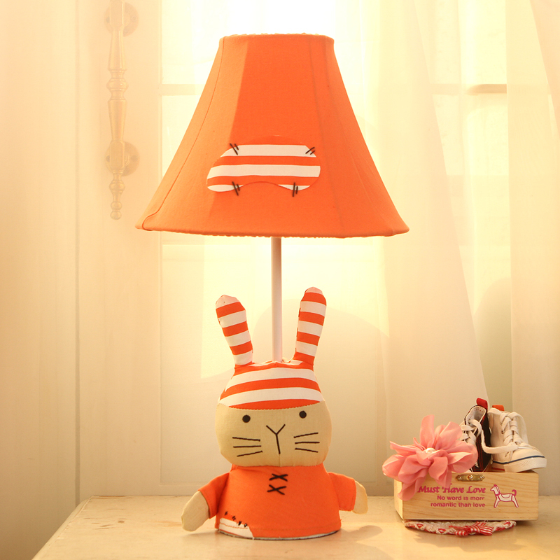 Simple pastoral creative children's cartoon lamp bedroom ...