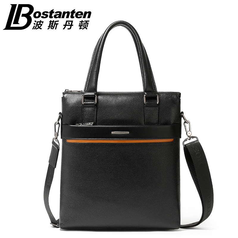 Free Shipping Botanten New Business Fashion Male Handbags Vertical Genuine Leather Shoulder Casual Messenger Bag Briefcase