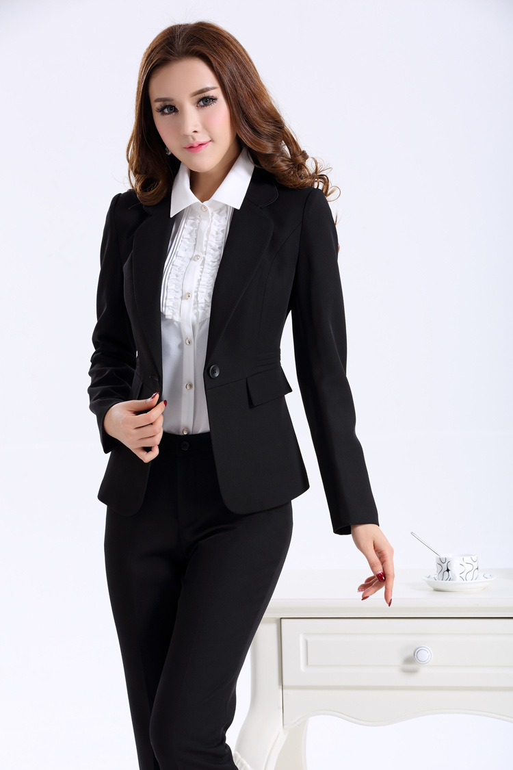 Luxury Women Business Suits 2014 New Autumn Formal Office Ladies Pantsuits