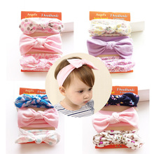 Buy New set handmade cotton Rabbit flower crown headband girls hair Accessories knot bows hair band kids hair ornaments Turbante for $3.69 in AliExpress store