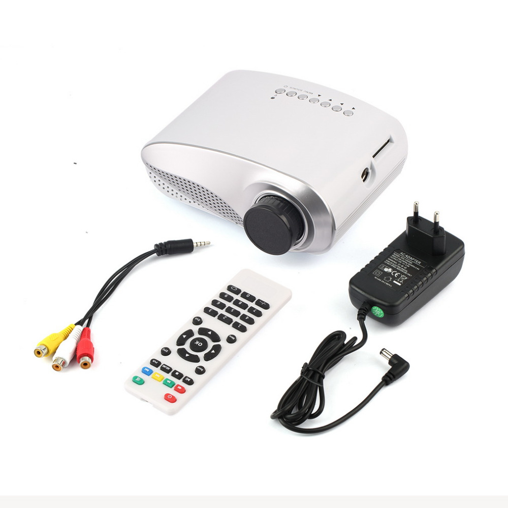 1set 1080P 3D Mini Home Theatre Portable Entertain Multimedia Projector for USB HDMI TV VGA HD LED Video LCD Hot New Arrival(China (Mainland))