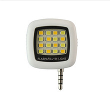 White Useful Portable Smartphone Phone Selfie Mini 16 LED Flash Fill Light For IOS Android 2016 New(China (Mainland))