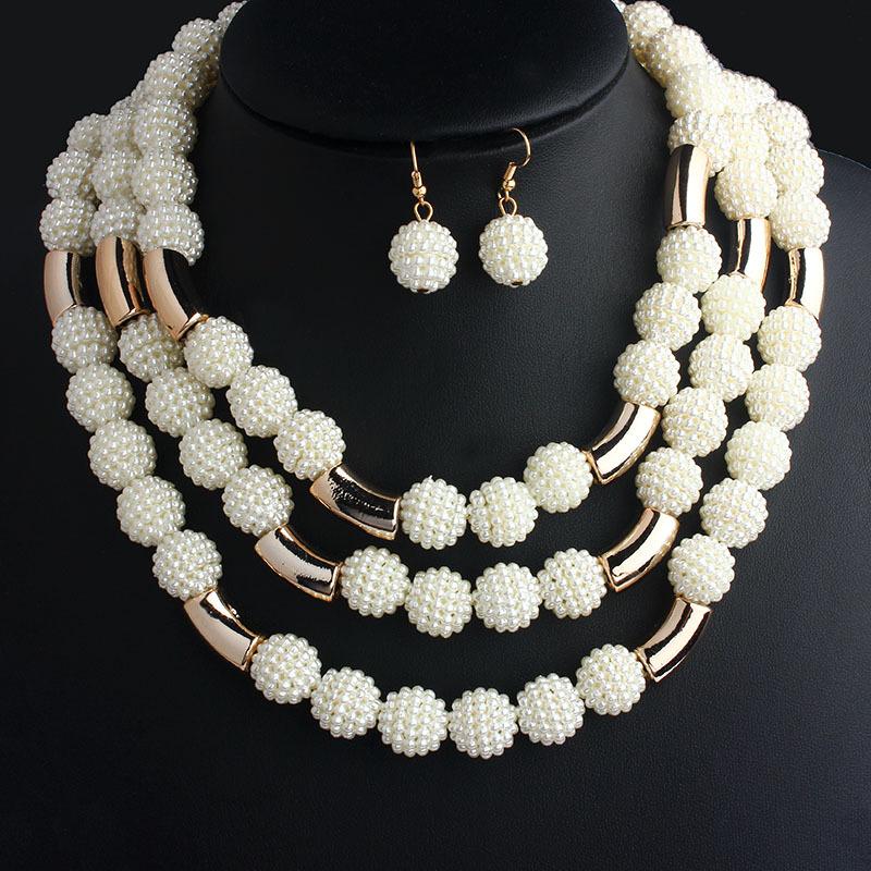 Гаджет  Fashion African Handmade Beads Layer Jewelry Set Women Summer Winter Choker Necklace Earrings Female Mother Party Gifts None Ювелирные изделия и часы